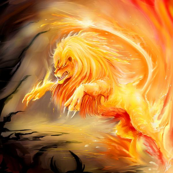 Fire Lion by Daelyth